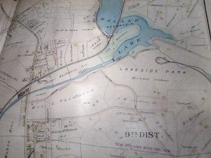 Lake Roland historic map