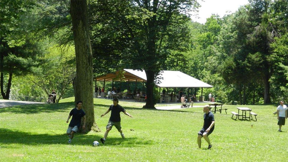 Soccer at Lake Roland