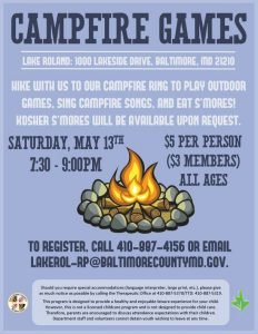 Campfire Games and Songs @ Lake Roland | Baltimore | Maryland | United States