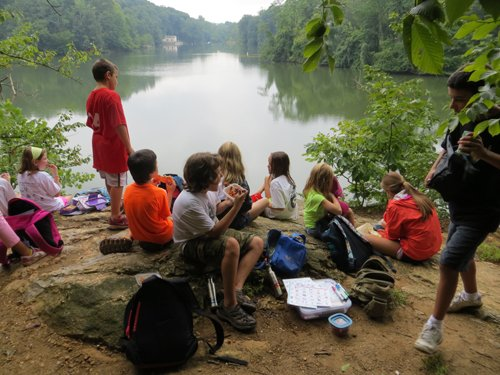 Campers at Lake Roland