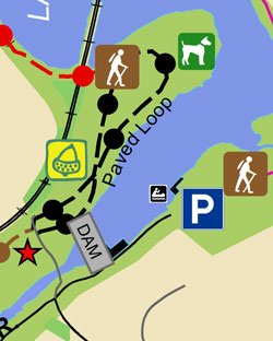 Lake Roland Canoe Launch Map thumbnail