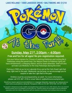 Pokémon Go At the Park @ Lake Roland   Baltimore   Maryland   United States
