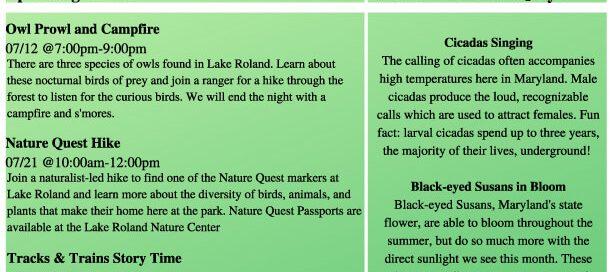 Lake Roland July Newsletter