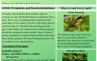 April 2021 Lake Roland Monthly Newsletter