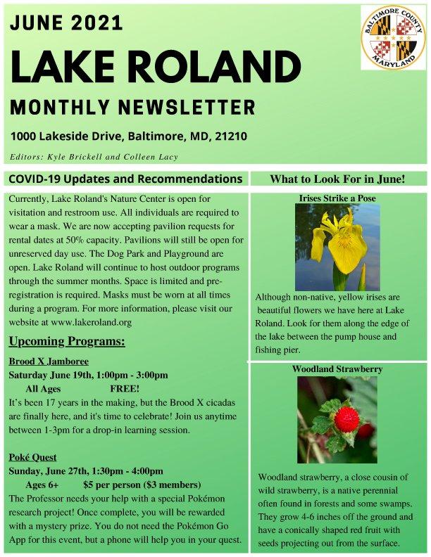 June 2021 Lake Roland Newsletter