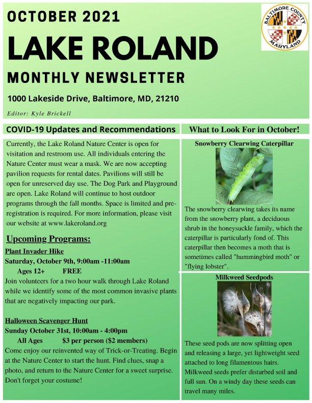 October 2021 Lake Roland Newsletter
